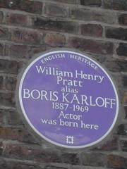 Photo of William Henry Pratt blue plaque