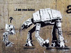 i am your father by dalk from norway (owlana) Tags: street urban streetart pasteup art graffiti stencil paint magic graf australia melbourne alleyway empire jedi laneway sharpie aerosol hoth walkingaround endor chickenwalker