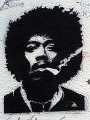 hendrix (owlana) Tags: street urban streetart pasteup art graffiti stencil paint magic graf australia melbourne alleyway hendrix laneway sharpie aerosol walkingaround