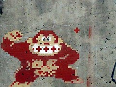 pixel kong (owlana) Tags: street urban streetart pasteup art graffiti stencil paint magic graf australia melbourne alleyway laneway sharpie aerosol walkingaround