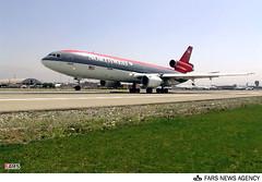 U.S. Plane Makes Emergency Landing in Iran (iRAN Project) Tags: us usa america american americans emergency landing tehran airport iran northwest airline jet plane dc10