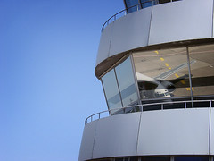 Watching windows (matthijs rouw) Tags: reflection airplane airport casio dusseldorf controltower casioqv3000ex casioqv3000 qv3000ex qvex3000exir casioqv3000exir