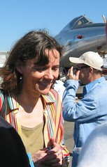 Florence Aubenas au Salon du Bourget (Pierre Metivier) Tags: france ego florence topv1111 topv999 airshow liberation hussein aubenas hanoun irak bourget hostage otage