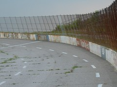 More decay (p2wy) Tags: grass racetrack turn fence geotagged ruins track decay northcarolina racing nascar autoracing wilkesboro oval speedway stockcarracing wilkescounty northwilkesborospeedway p2wy e7600
