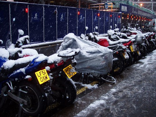 20694683 aad41cc5ac Motorbikes covered in snow