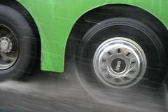 Turkish bus (ido1) Tags: bus green rain topv111 speed turn turkey drive deleteme10 taxi istanbul spray daf