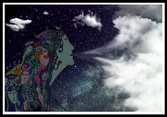 Mother Earth (Mr Bultitude) Tags: woman art lady photoshop stars poetry poem drawing earth mother manipulation paganism pagan mrbultitude neilcarey