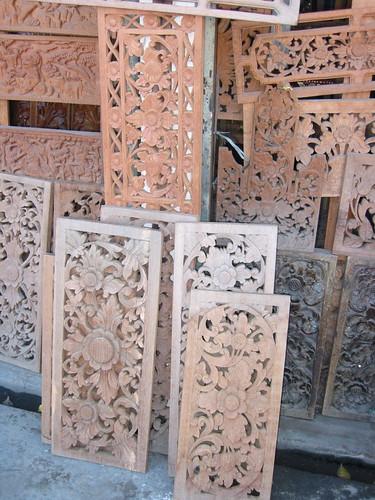 Carved panels, Denpasar, Bali