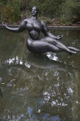 Floating Lady (Splinter) Tags: canberra art gallery woman sculpture water