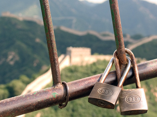 padlocks on the Great Wall of China