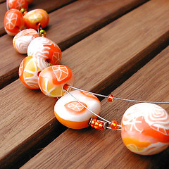 Collier orangeade (lavomatic) Tags: orange collier handmade explore clay argile polymer polymre