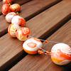 Collier orangeade (lavomatic) Tags: orange collier handmade explore clay argile polymer polymère