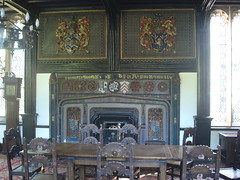 Salmesbury Hall (tonypreece) Tags: house table hall fireplace chairs grand crest tudor haunted blackburn latin mansion samlesbury whitelady geolat537697 geolon25735