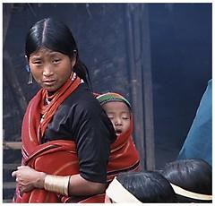 woman w sleeping baby (AsianInsights) Tags: new travel woman baby asia burma year hunting celebration tribes myanmar tribe tatoo ethnic naga nagaland headhunter lahe khamti mtoher romanachapman gettyimagessoutheastasiaq1