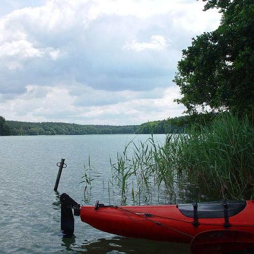 Kajak am Ufer im Lychen