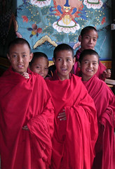 Happy Buddhist Monks