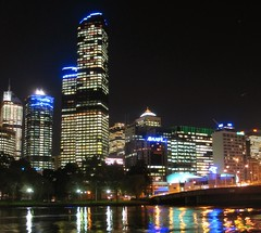 IMG_8577 (young_einstein) Tags: melbourne australia city night lights buildings skyscraper river reflection rialto