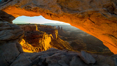 Mesa Arch - Canyonlands National Park - Moab, Utah. Taken with the LG G5. 76/2016 (Bikkogin) Tags: arch mesaviewarch canyonlandsnationalpark canyonlands np sunrise 100xthe2016edition 100x2016 image76100