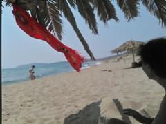 Red Rock beach (Fif') Tags: greece grèce griechenland hellás hellas égée aegean 2016 plage playa beach sea see mer méditerranée mediterranean sandy sable limnos lemnos island île grècque greek λήμνοσ