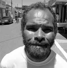 The Village Idiot (joaobambu) Tags: 2005 b brazil portrait blackandwhite bw man face topv111 brasil beard sad emotion expression retrato character cara forsakenpeople pb personality story blogged forsaken homem pretoebranco hombre echapor echapora echaporaense ruabrasil