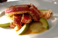 Seared Ahi Tuna (disneymike) Tags: ahituna tuna ahi sesameseeds avocado ginger levallauris french 1735mmf28d nikon nikkor d100 palmsprings california