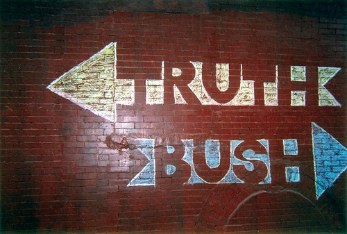 the truth goes one way, bush the other