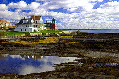 Orr's Island (DeeperSea) Tags: ocean houses sea sky beach water clouds wow reflections topf50 topv333 bravo painted maine pools shore mirroredthings tidepools clamming orrsisland views1000 200viewswinner