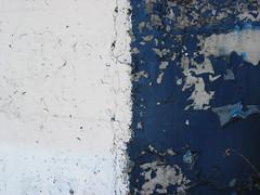 Split Paint (splorp) Tags: blue white canada abstract calgary texture concrete paint exterior cement crack alberta cracked