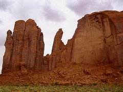 Utah, Monument Valley, Totem Pole and Yei Bi Chei (hanneorla) Tags: mountains 2004 monument nature utah totem pole valley bi chei yei cliffshanneorla