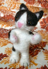 felting cat 3 (ccyytt) Tags: needlefelting felting cat wool handmade craft
