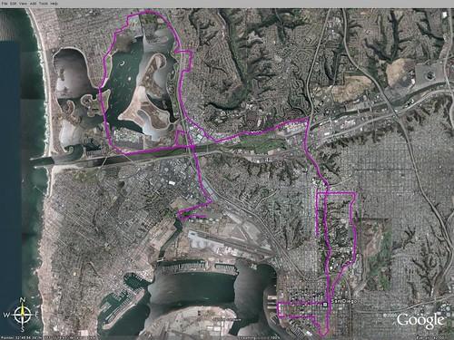 california sandiego marathon running gps googleearth jakepix