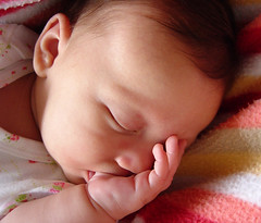 her favorite sleeptime activity... (earthsound) Tags: sleeping eye face closeup iso100 hand sony cybershot blanket thumb asleep comfort sucking thumbsucking 8mm miriam f28 comforting gunnells miriamgrace miriamgracegunnells 0ev 002sec hpexif