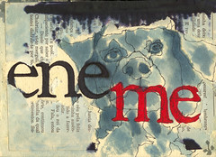 eneME (Yaronimus Maximus) Tags: collage typography israel drawing hebrew typo thepleasuresofthetext  enemy  yaronimus  hebrewtypography israelgraphicdesign