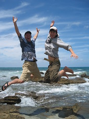 Jump. Jump! (vfowler) Tags: 15fav beach topv111 510fav coast interesting jump australia victoria shore greatoceanroad topv666 flickr:user=vfowler