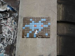 Space Invaders mosaic