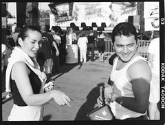 abigail & luis (bellyface) Tags: bw film analog mediumformat lab fuji miami ishootfilm abigail luis nophotoshop processed t400cn conventional gs645 digitalsucks filmrules silverhalide onlyfilm
