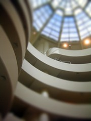 Guggenheim model (Littlepixel) Tags: nyc photoshop miniature manhattan fake mini guggenheim fts tiltshift toytown lensblur railwaylayout