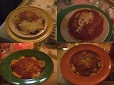 Dinners at Cafe La Bellitalia