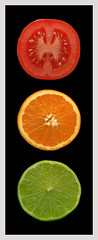 Kitchen Traffic (Peter you've lost the news) Tags: red food orange color colour green kitchen tomato trafficlight bravo traffic go stop lime colormedicine