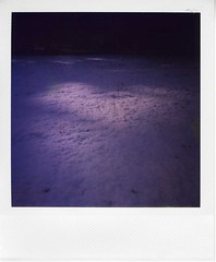 #013 lights on the snow field (gochie*) Tags: light shadow snow film japan kyoto snowy      poraloid    jobpro2