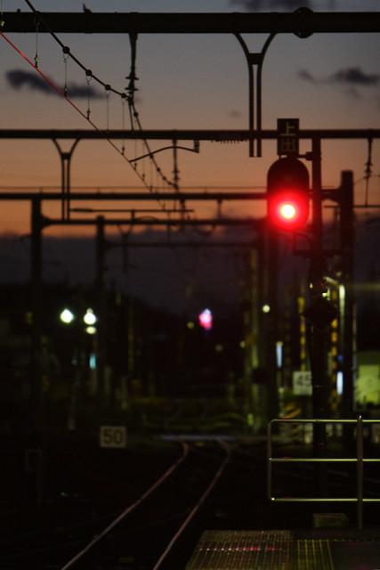 夕闇の信号