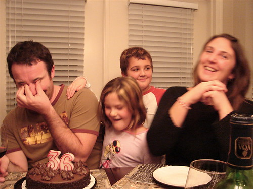 The Birthday Boy, the missus and the sprogs....