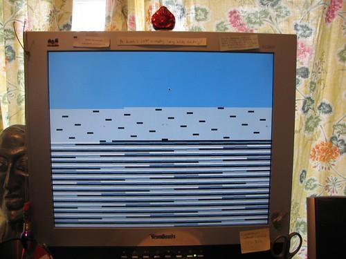 blue screen on a PowerMac G5