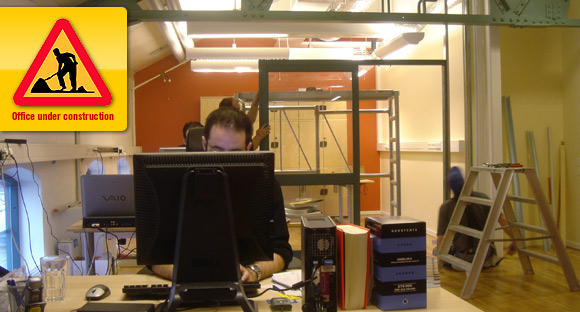Pingdom HQ being revamped.