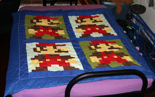 Finished Mario Quilt