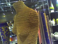 Corrugated Dummy (Vidiot) Tags: nyc nycpb museum phonecam camphone design store model treo650 arts cardboard gothamist form mad dummy corrugated photographyisnotacrime museumofartsanddesign