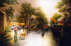 Thomas Kinkade Painting (Keith Lovelady's Photography) Tags: paintings abigfave