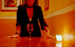 she waits (VYNO) Tags: woman girl mujer wine femme vin vino wein vyno