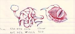 ham vagina (diversionmary) Tags: blue red work drawing dolphin render ham doodle vagina noodle ballpoint taskpad colerase