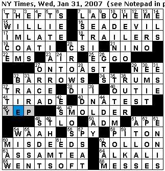 dot in the seine crossword